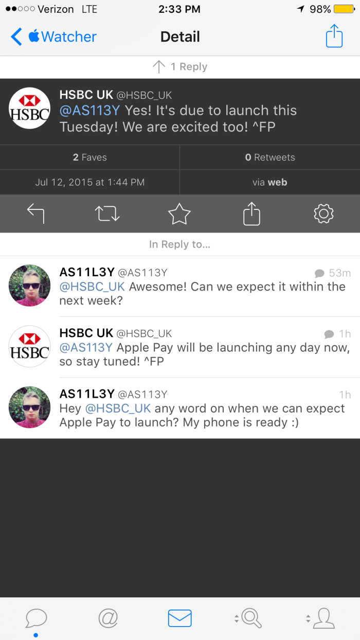 HSBC UK leaks Apple Pay start date