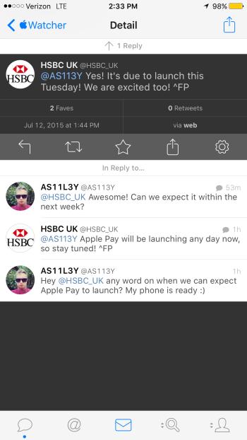HSBC UK leaks Apple Pay start date