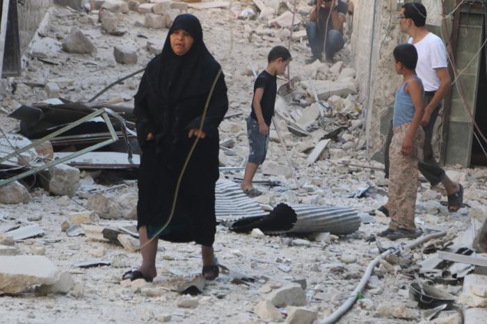 Aleppo Syria bombs