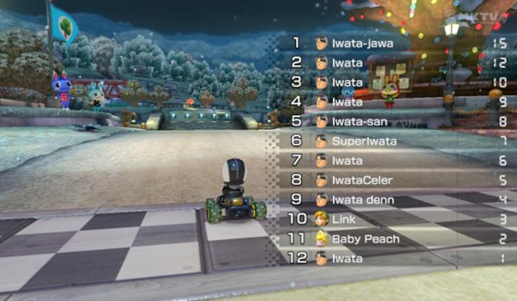 Iwata Mario Kart tribute