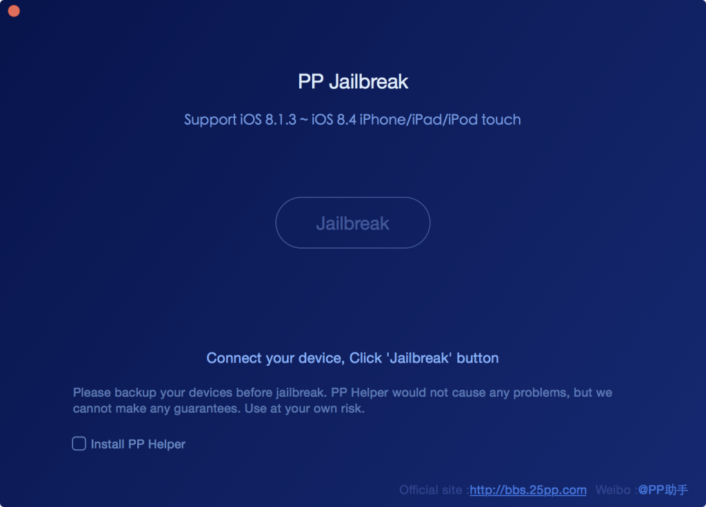 PP iOS 8.4 jailbreak for Mac