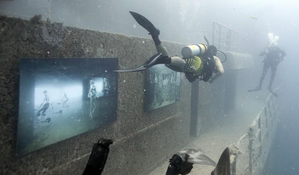 Underwater Photo Exhibition on Artificial Sunken Ship Reef in Florida Woos Divers