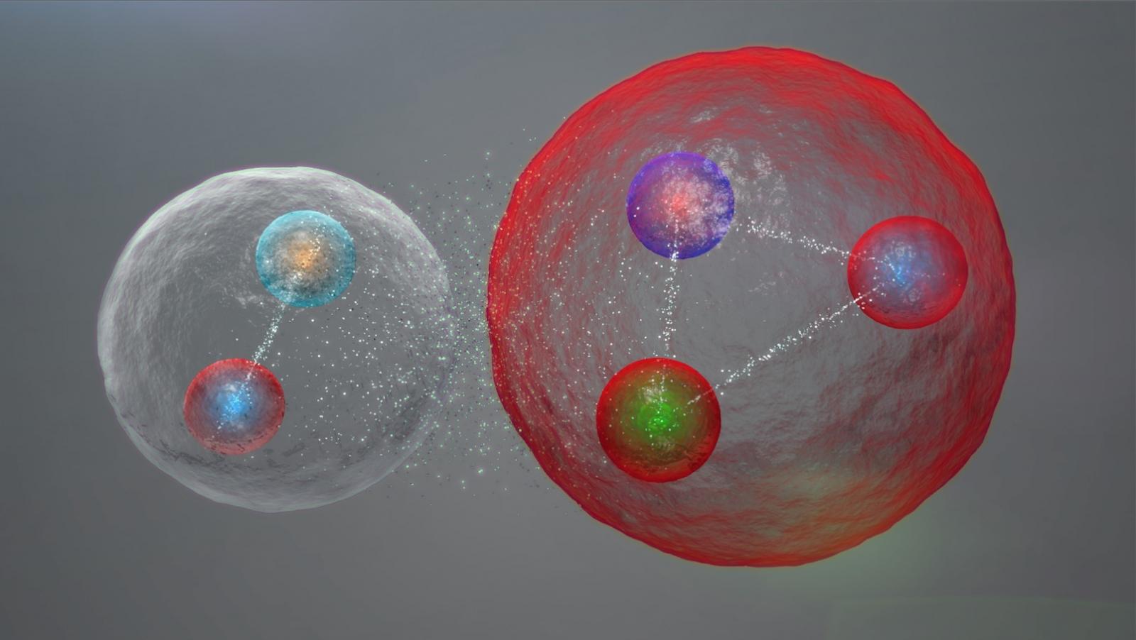 exotic pentaquark particles