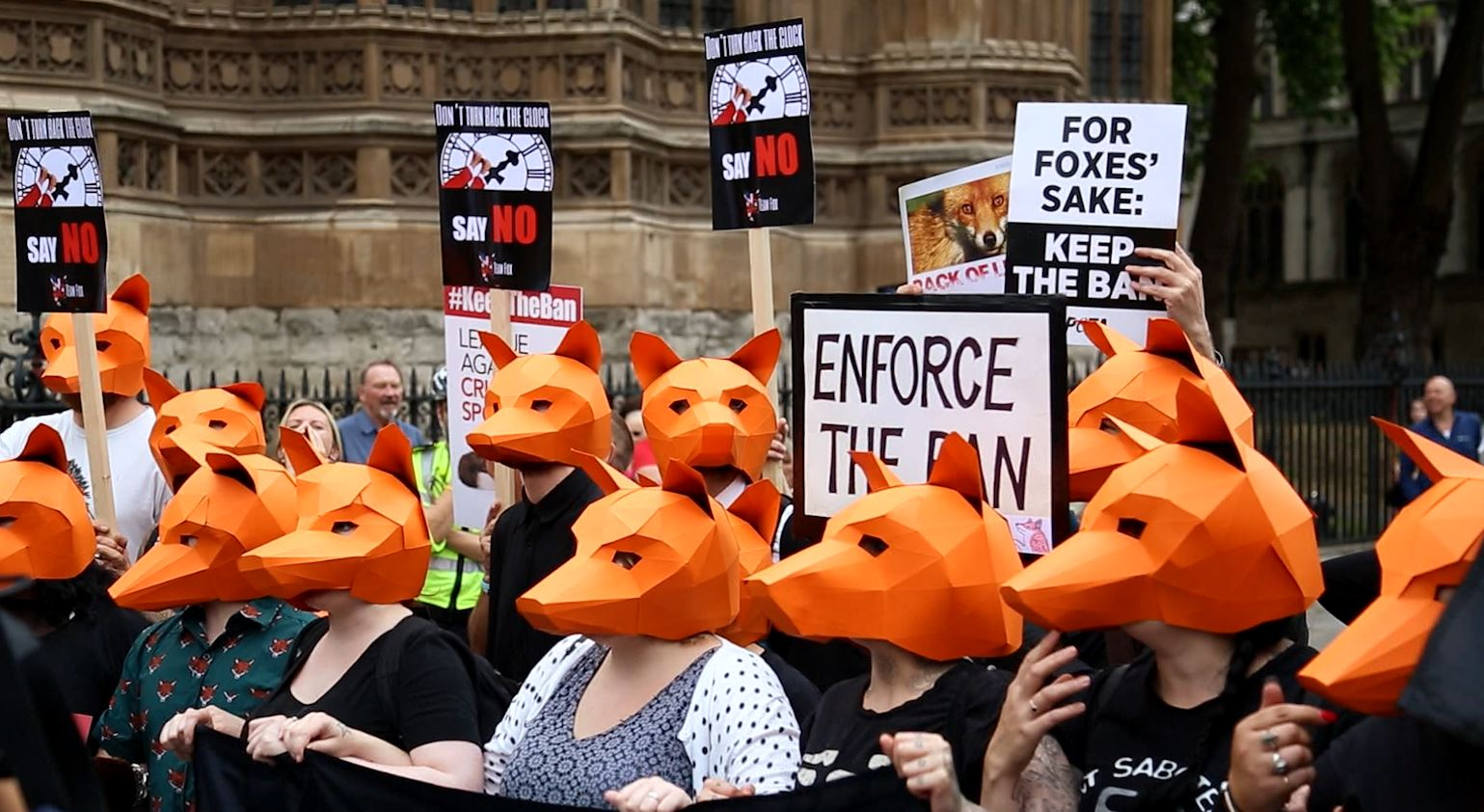 Fox Hunting Ban Vote Protest