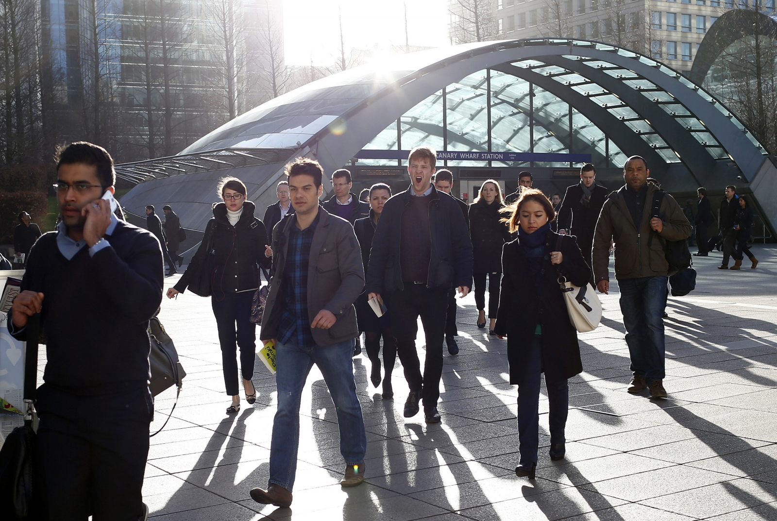 City workers in Canary Wharf