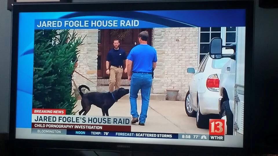 News footage of Jared Fogle house raid