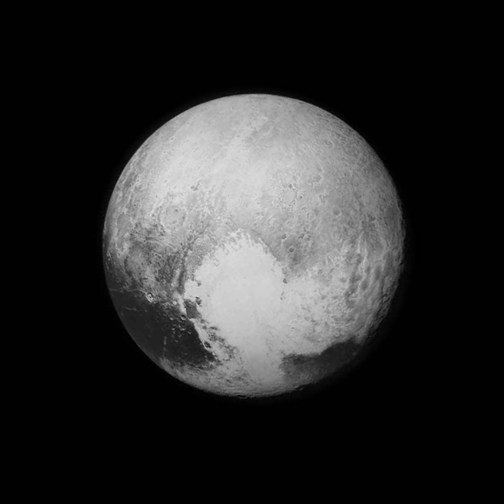 Pluto (black and white)