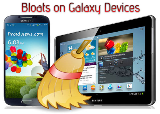 Remove bloatware on Galaxy Devices