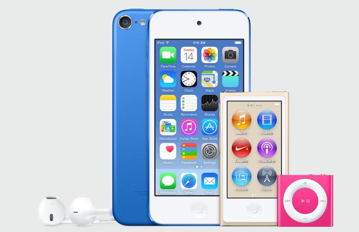 New iPod range