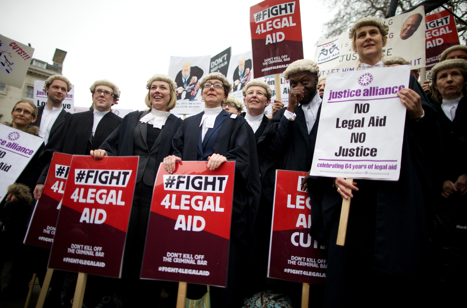 Legal aid protests