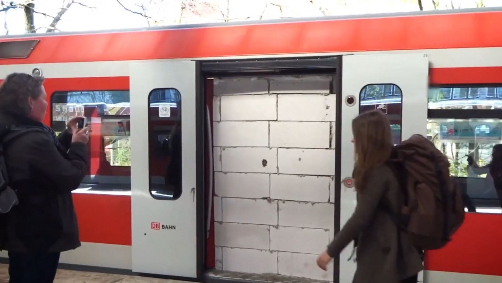 Train prank in Hamburg, Germany