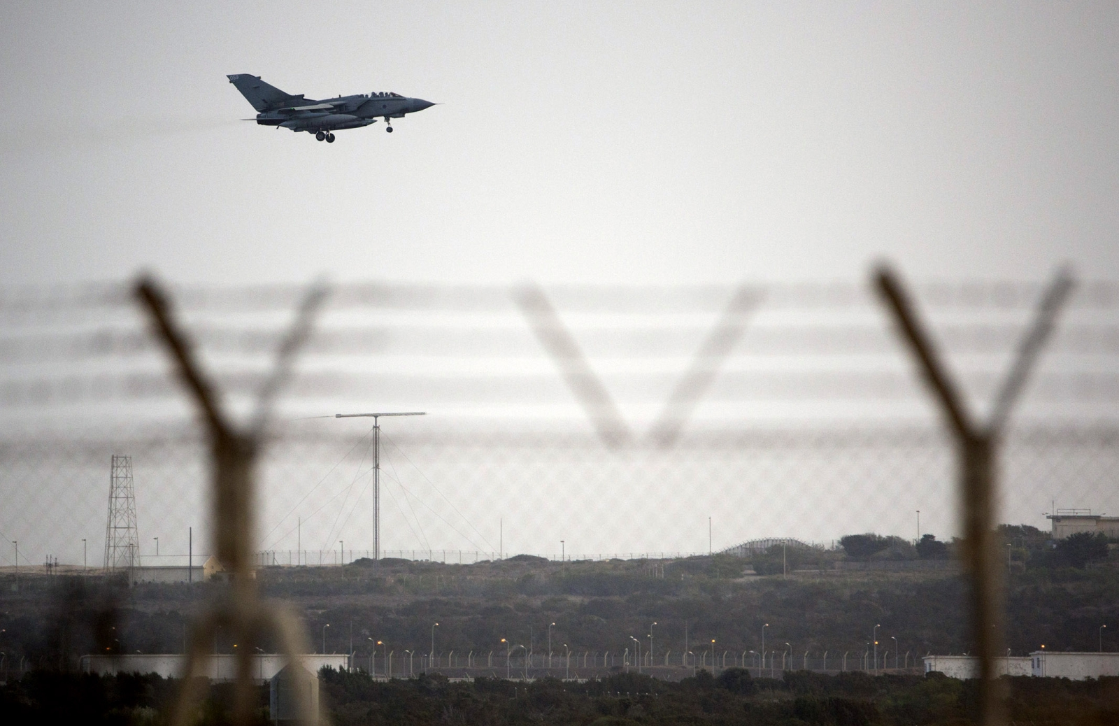 An RAF Tornado lands at Akrotiri