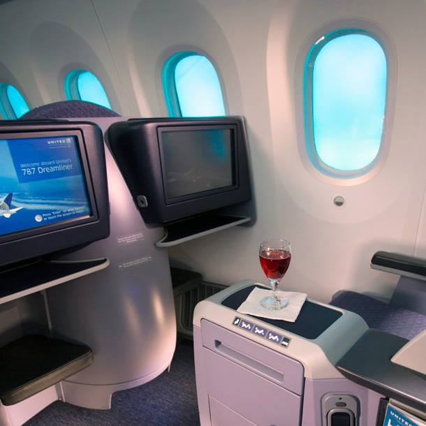 United Airlines in-flight entertainment system