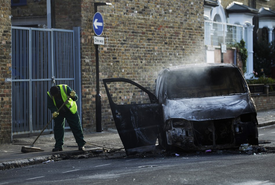 London Wakes to Ashes after Nights of Fiery Riots