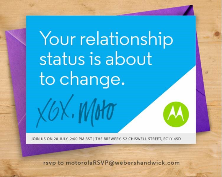 Motorola event 28 July