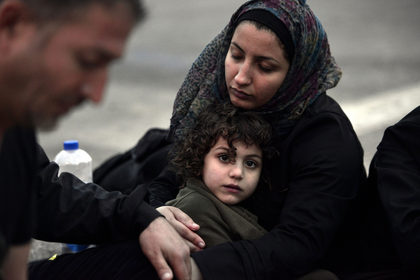 A Syrian mother tries to