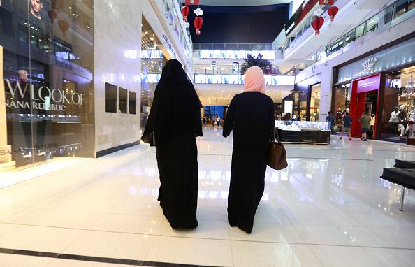 Women shop in mall