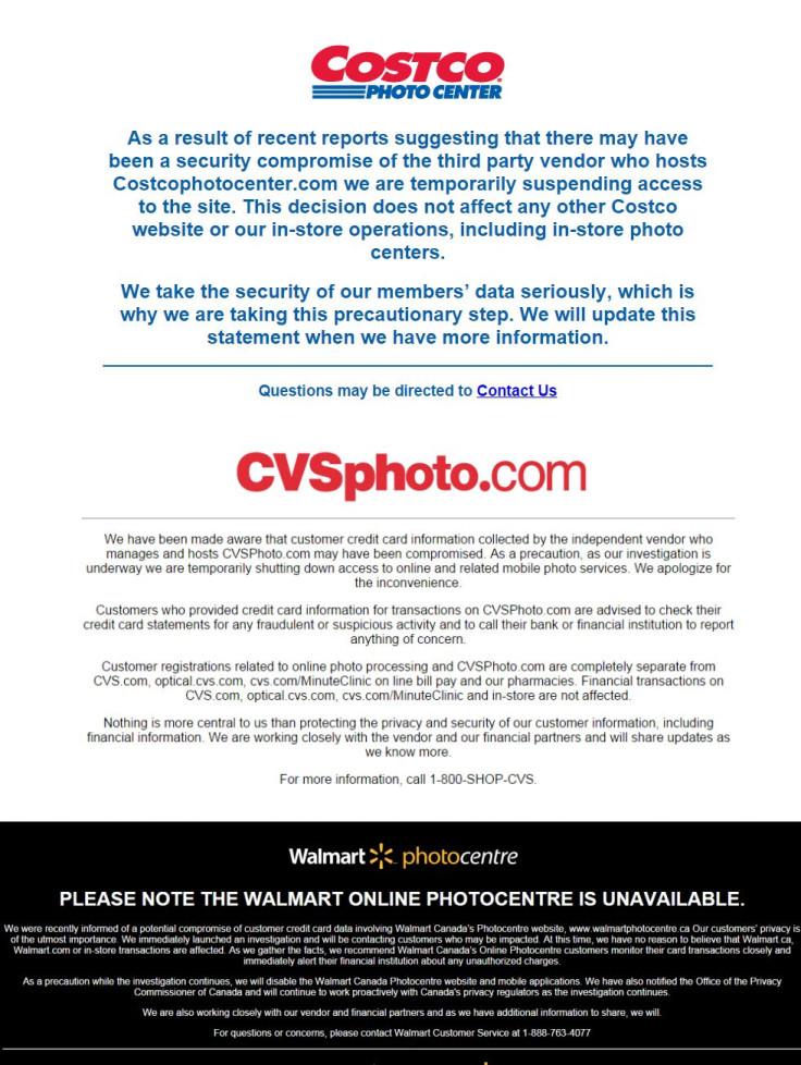 CVS, Walmart Canada and Costco