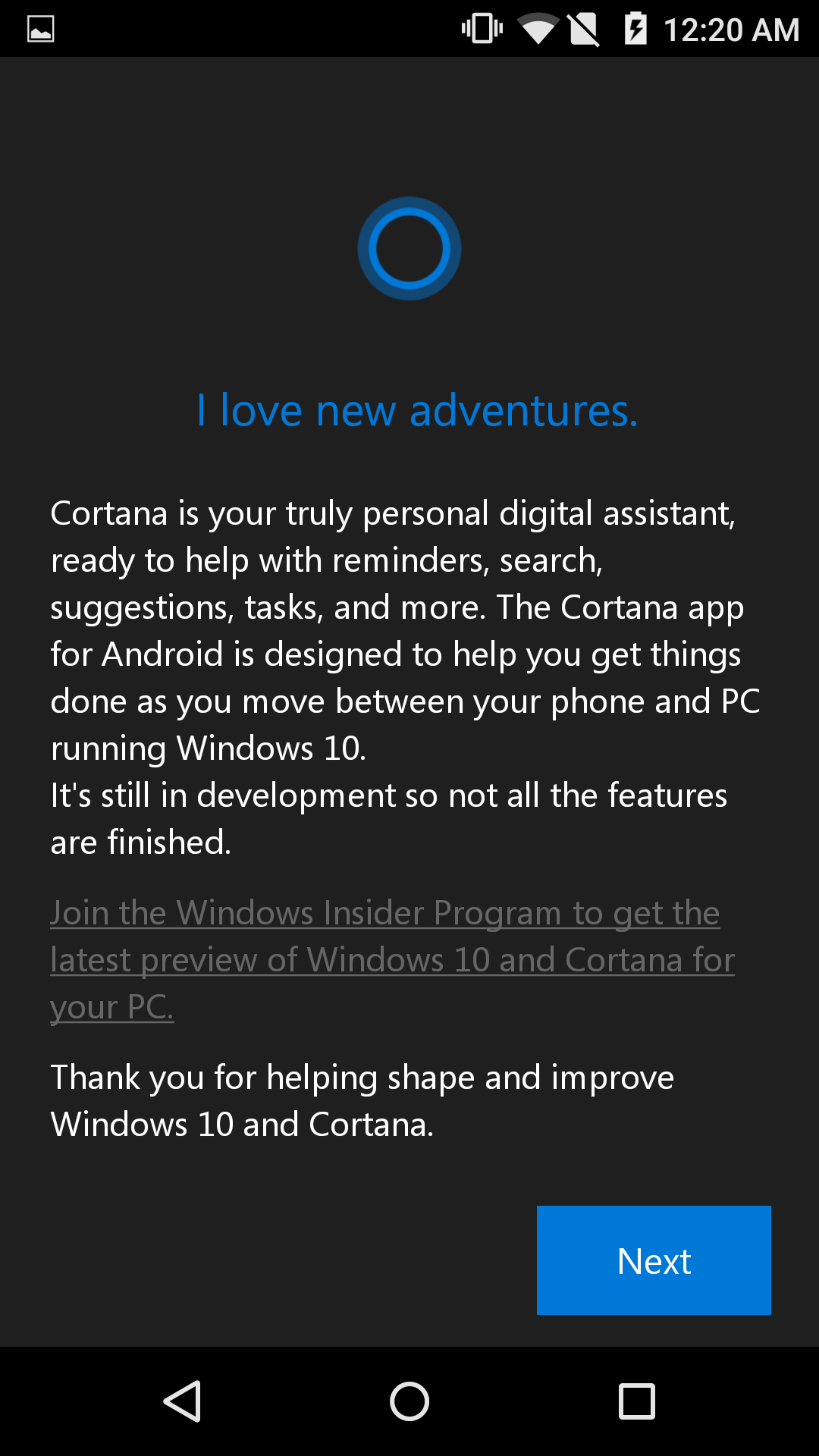 Microsoft Cortana for Android