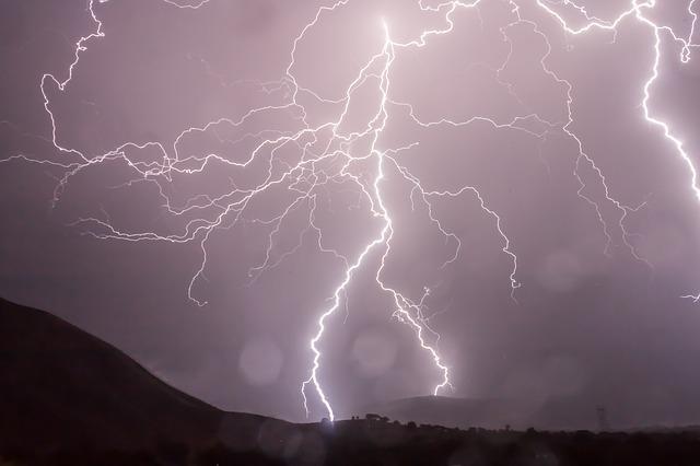 Rocky lightning strike