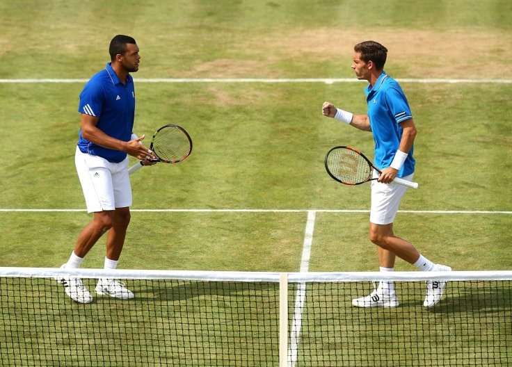 Jo-Wilfried Tsonga and Nicolas Mahut