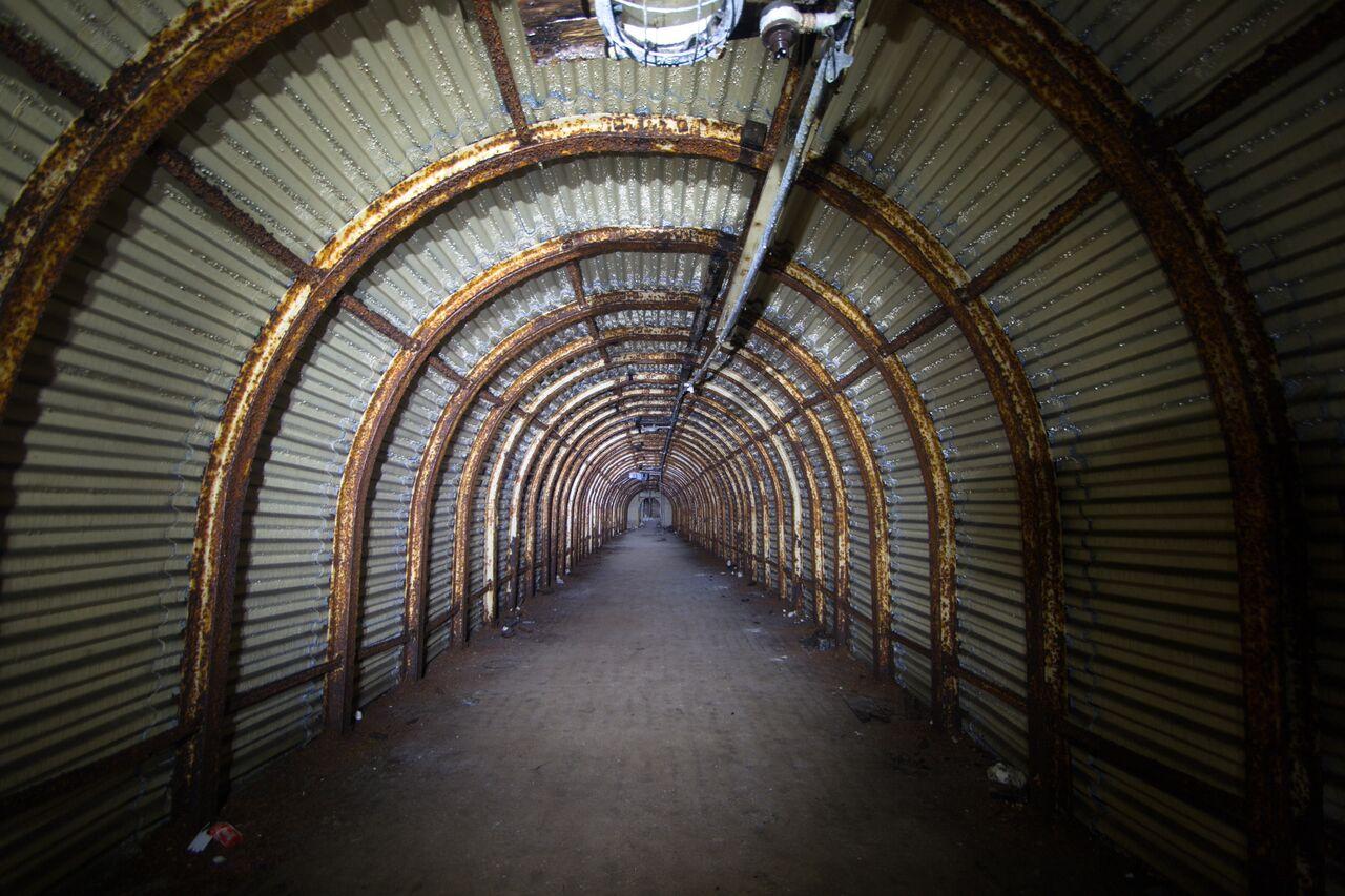 ww2 cliff tunnels