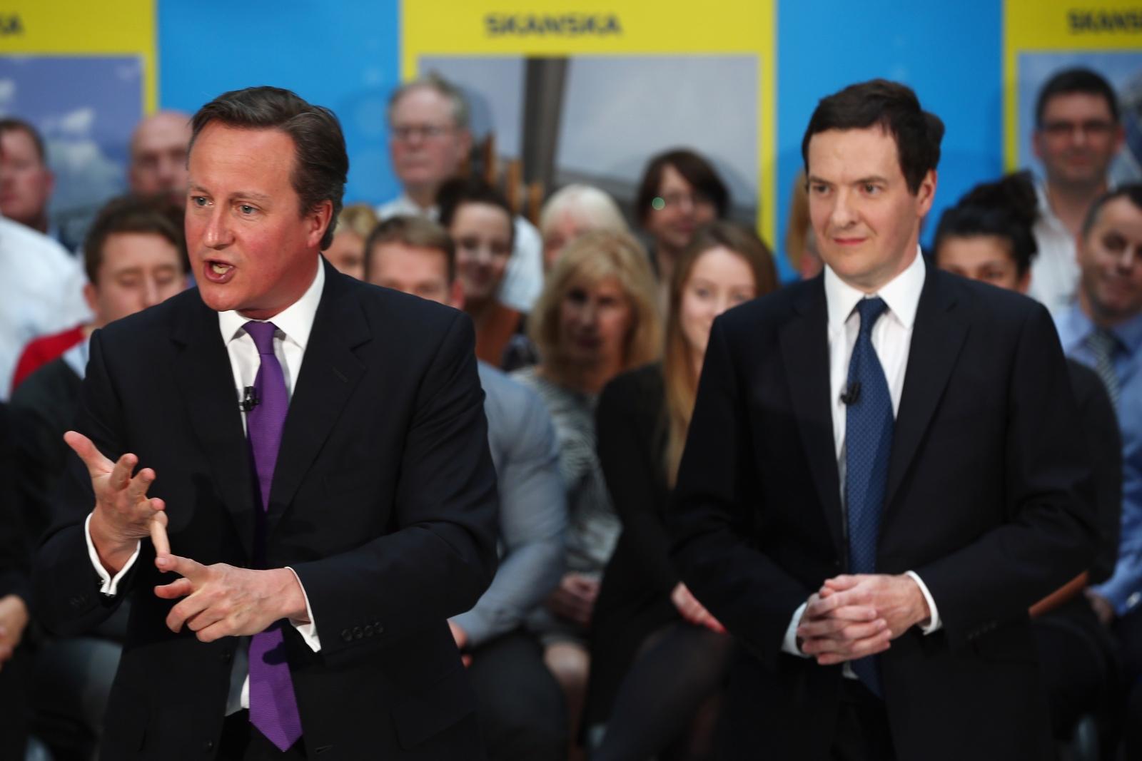 David Cameron George Osborne Conservatives