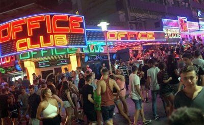 Magaluf British tourists