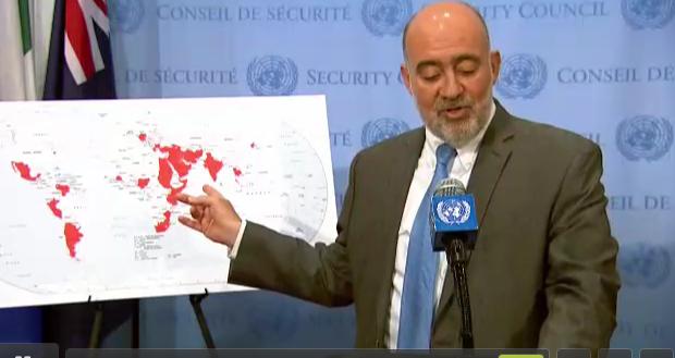 Israel map of Iran influence UN