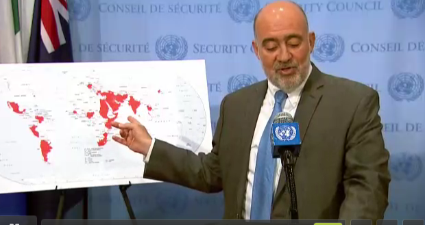 Israel map of Iran influence UN