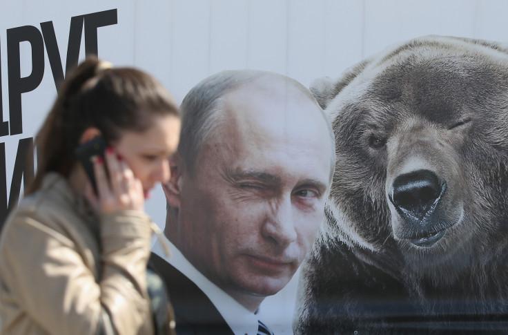 Vladimir Putin and a bear
