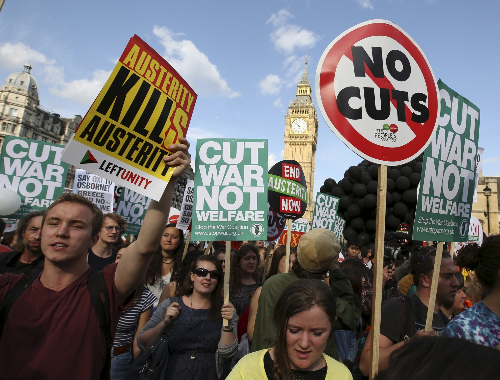 Protests against welfare cuts