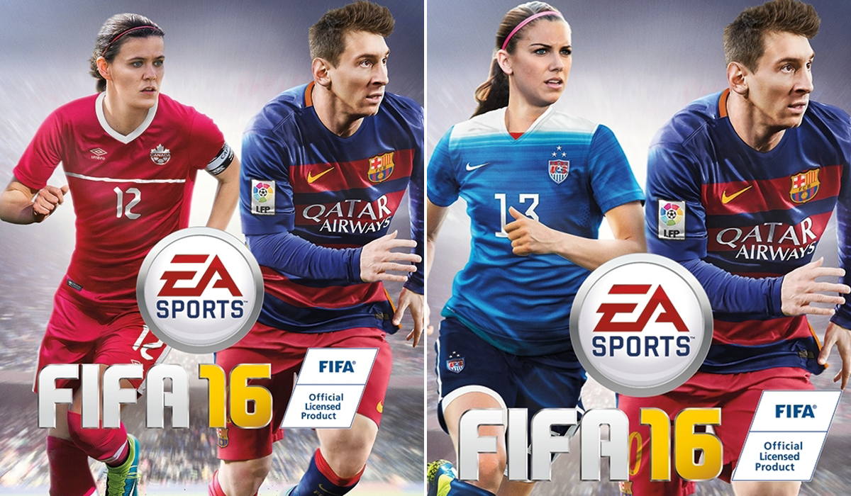 Fifa 16 cover Alex Morgan Christine Sinclair