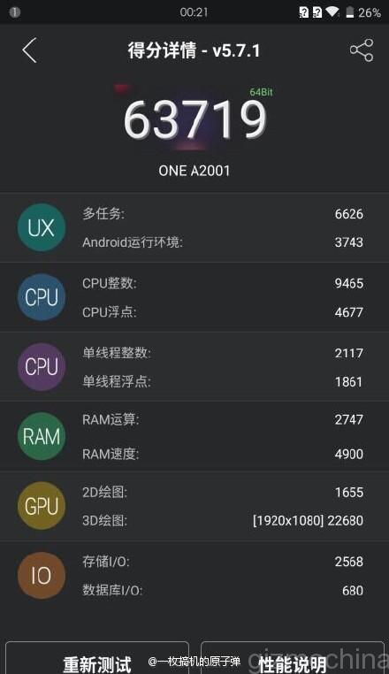 OnePlus 2 new AnTuTu benchmarks