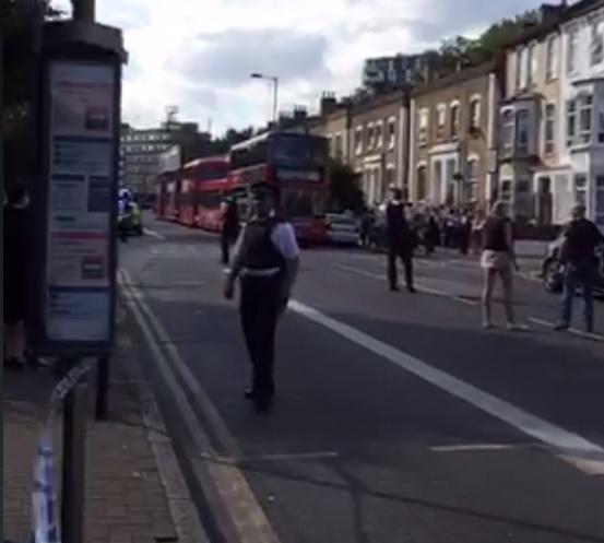 Hackney police cordon