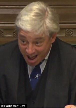 Bercow tells Osborne to 'sit down'