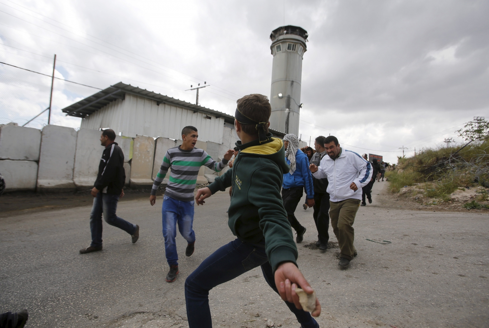 Palestinian stone thrower