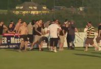 Leeds United riot in Austria