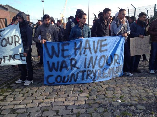 Syrians protest in Calais