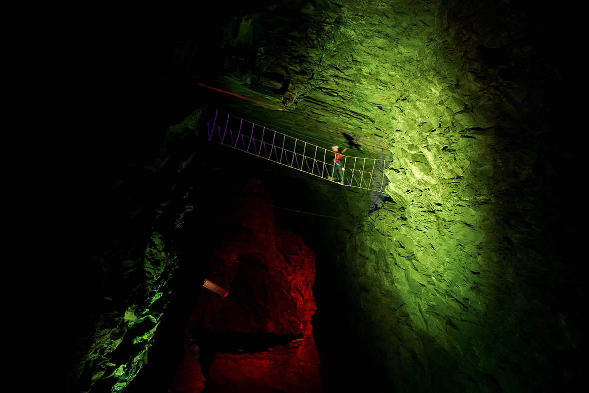 Bounce Below Zip World Caverns