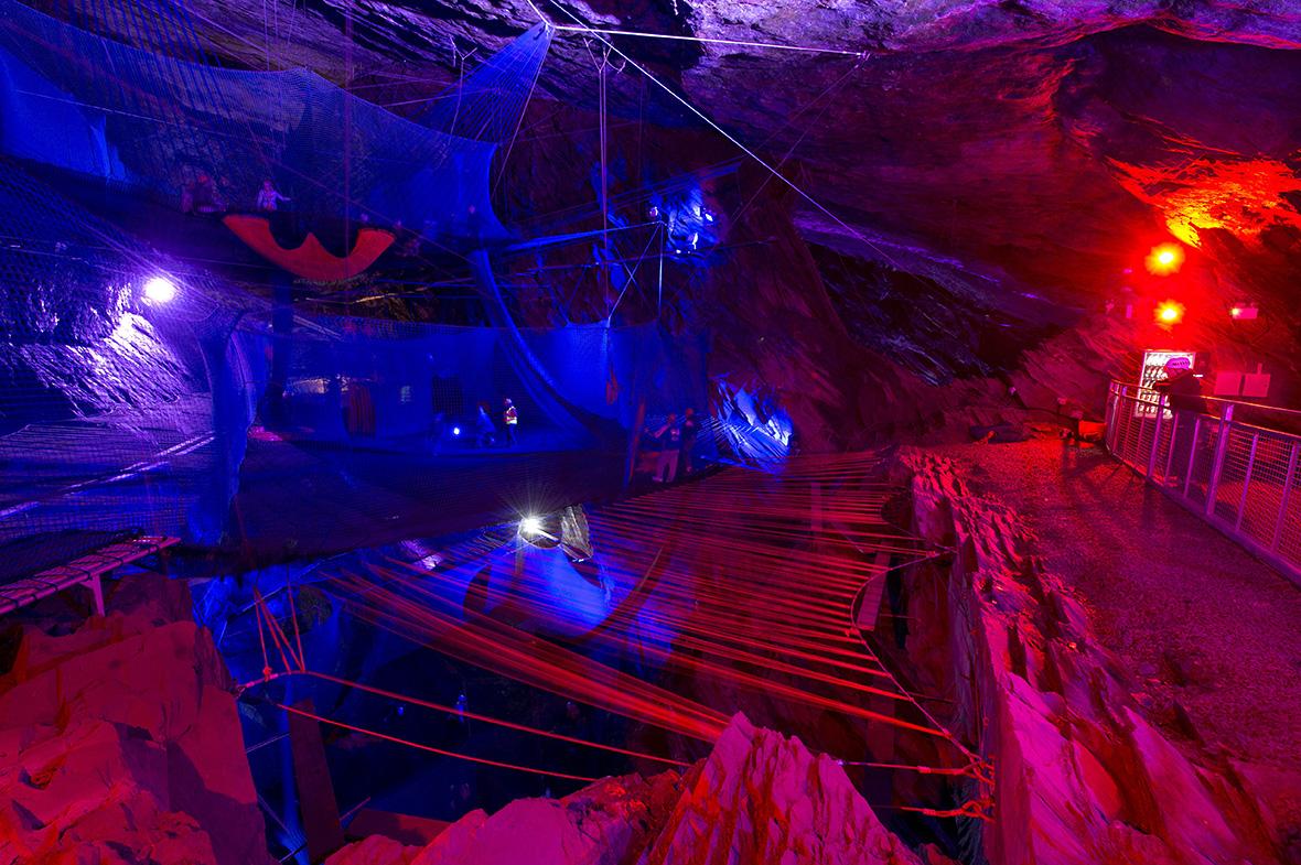 Bounce Below Zip World Caverns
