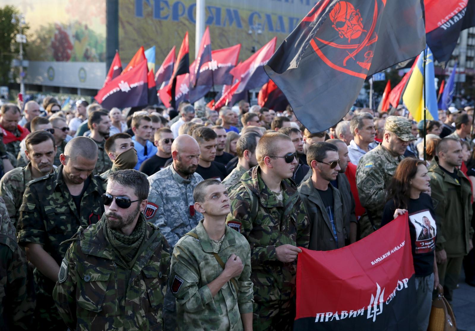 Ukraine Right Sector rally