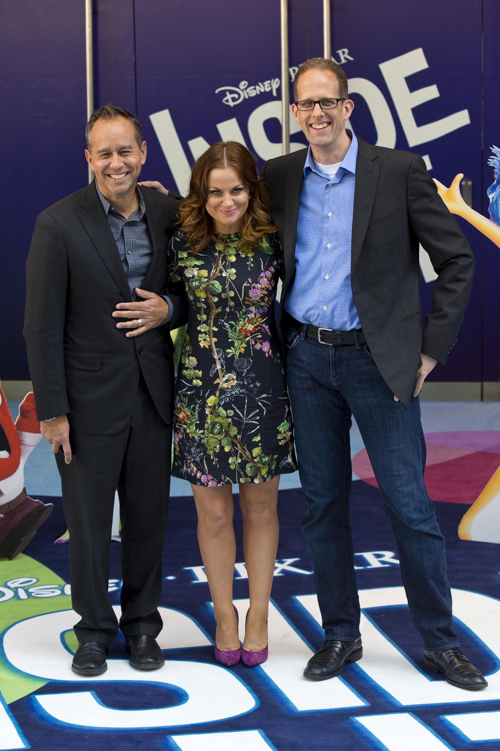 Jonas Rivera, Amy Poehler and Pete Docter