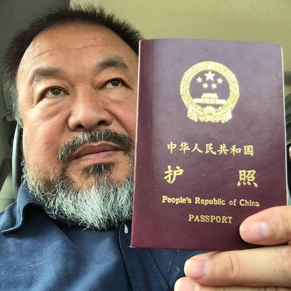 Ai receives passport