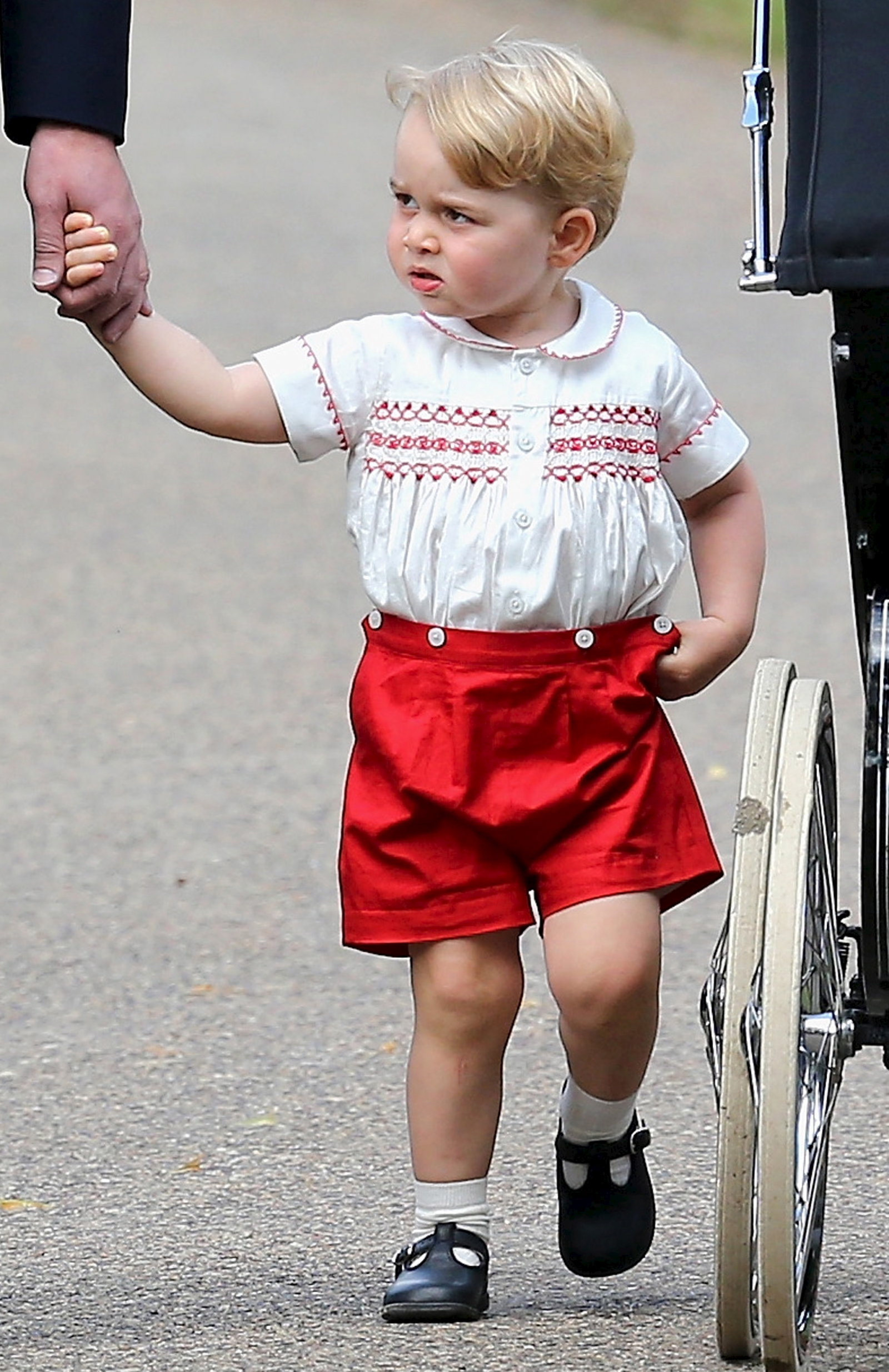 Prince George in his 'girl's outfit'