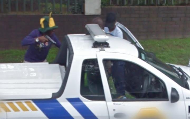 Google Street View carjacking gunpoint
