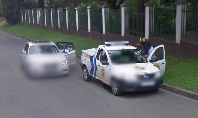 Google Street View carjacking gunpoint