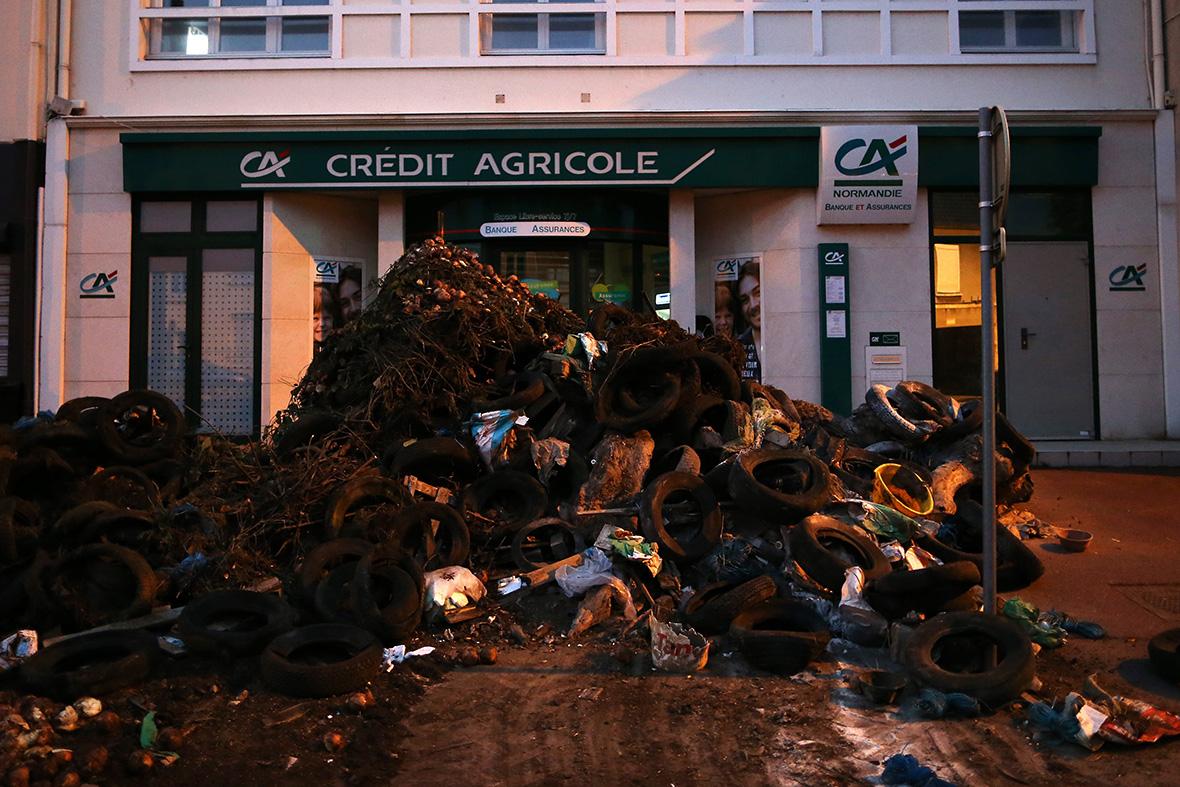 france farmers protest Bretteville-sur-Odon Caen