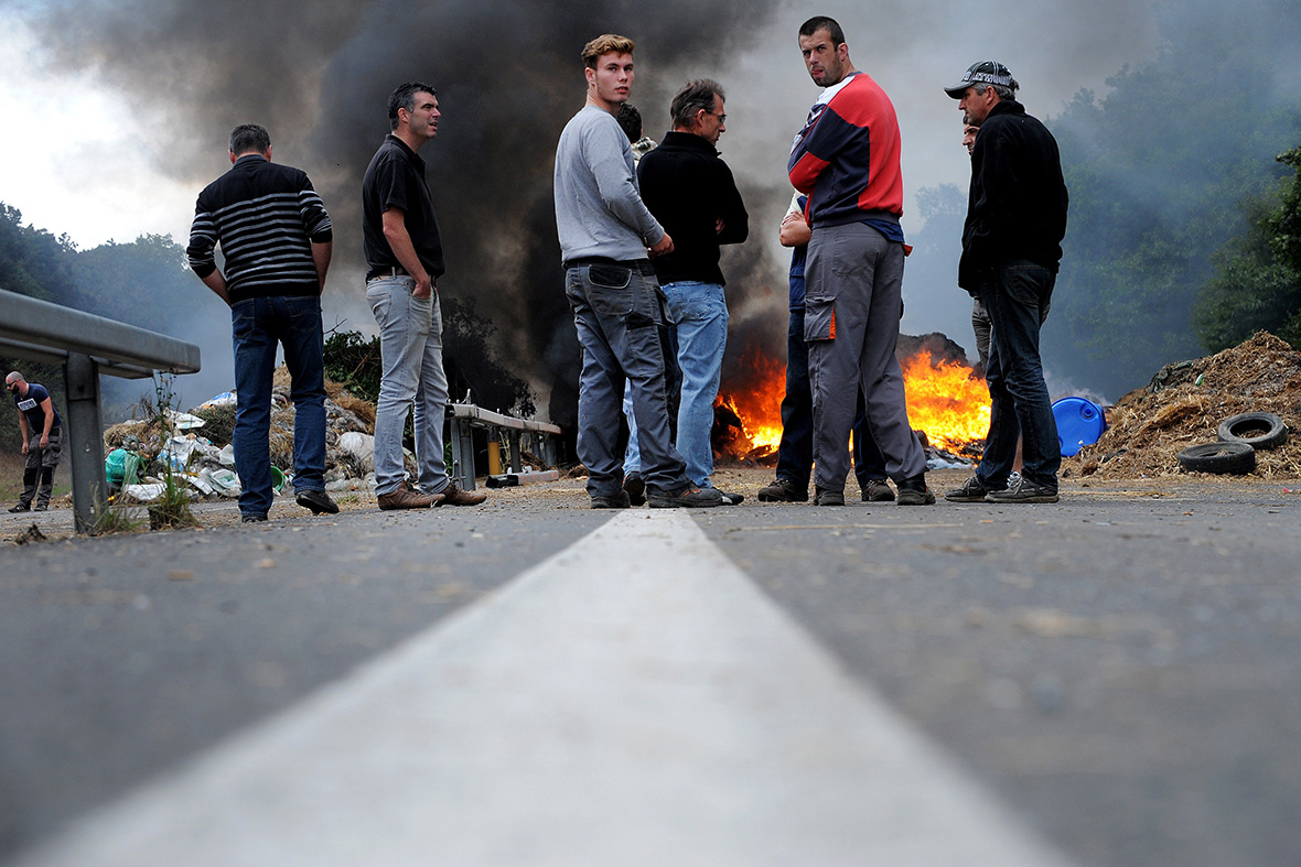 france farmers protest Brittany