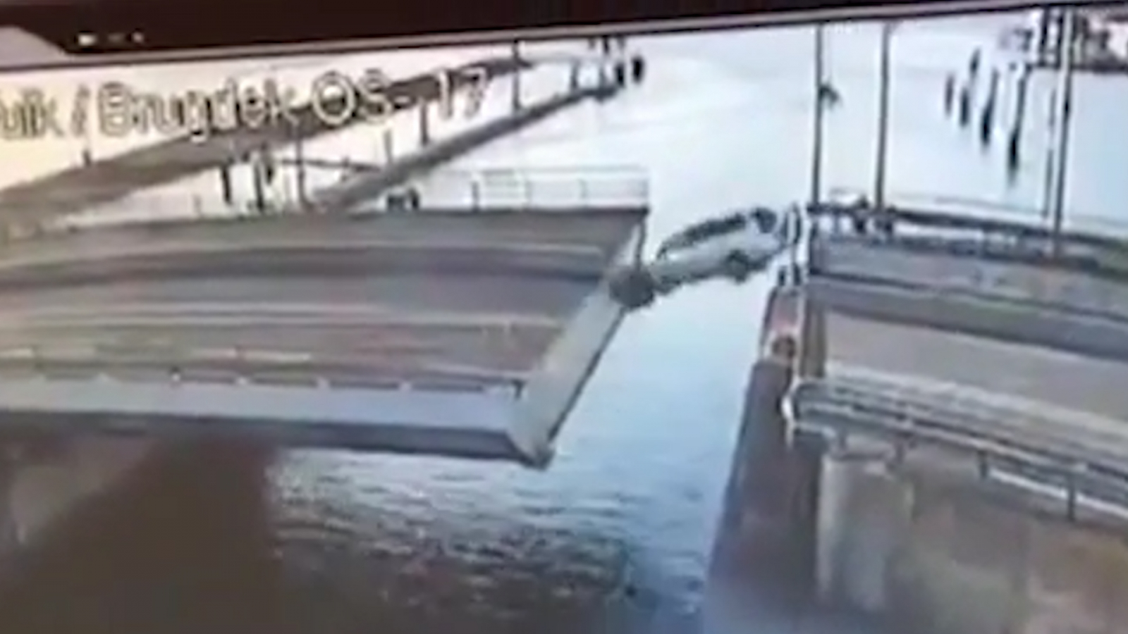 A Bridge Too Far Dutch Car Driver Spectacularly Fails To